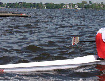 Ruderboot mit Namen 'Helene'