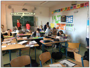 französisch im klassenraum