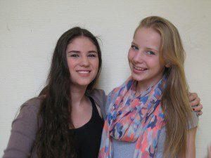 Patinnen der 5c sind Ivana (10d) und Juliana ((10b)