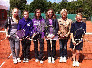 sport hlg tennis schulmannschaft mädchen 2012