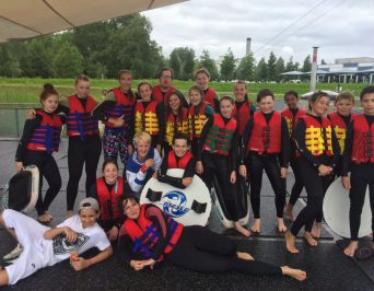 Waterskiing with the Prefects