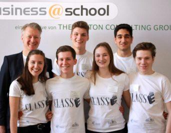 "Willkommen im Olymp: ""business@school""-Regionalfinale am HLG"