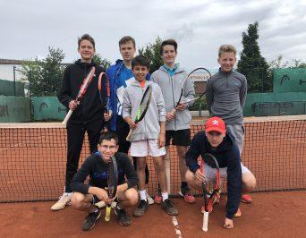 HLG-Tennisteam im Endspiel der Hamburger Schulmeisterschaft bei 'Jugend trainiert für Olympia'!