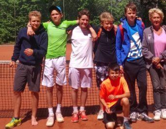 Tennismannschaft des HLG Dritter bei der Hamburger Schulmeisterschaft!