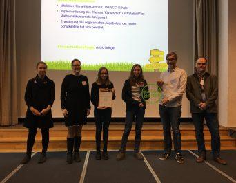 Gütesiegel 'Klimaschule 2019-2020' für das HLG